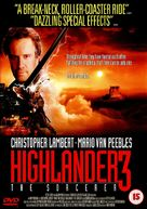 Highlander 3 - British DVD cover (xs thumbnail)