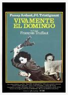 Vivement dimanche! - Spanish Movie Poster (xs thumbnail)