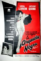 The Black Orchid - Argentinian Movie Poster (xs thumbnail)