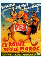 Road to Morocco - Belgian Movie Poster (xs thumbnail)