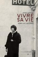 Vivre sa vie: Film en douze tableaux - Re-release poster (xs thumbnail)