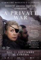 A Private War - Italian Movie Poster (xs thumbnail)