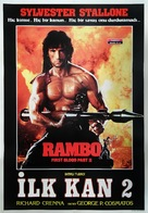 Rambo: First Blood Part II - Turkish Movie Poster (xs thumbnail)