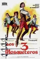 Les trois mousquetaires: Première époque - Les ferrets de la reine - Swedish Movie Poster (xs thumbnail)