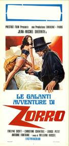 The Erotic Adventures of Zorro - Italian Movie Poster (xs thumbnail)