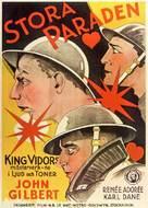 The Big Parade - Swedish Movie Poster (xs thumbnail)