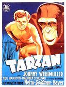 Tarzan the Ape Man - French Movie Poster (xs thumbnail)