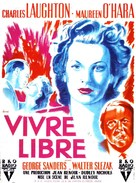 This Land Is Mine - French Movie Poster (xs thumbnail)