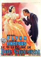 Adventures of Don Juan - Italian Movie Poster (xs thumbnail)