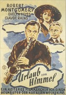 Here Comes Mr. Jordan - German Movie Poster (xs thumbnail)