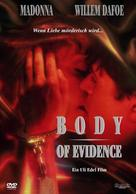 Body Of Evidence - German DVD movie cover (xs thumbnail)