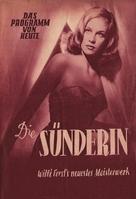 Sünderin, Die - German poster (xs thumbnail)