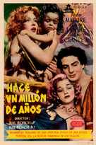 One Million B.C. - Spanish Movie Poster (xs thumbnail)