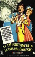 The Importance of Being Earnest - Spanish Movie Poster (xs thumbnail)