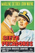 Seven Sinners - Argentinian Movie Poster (xs thumbnail)