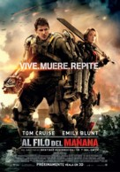Live Die Repeat: Edge of Tomorrow - Mexican Movie Poster (xs thumbnail)