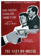 Three Hours to Kill - Yugoslav Movie Poster (xs thumbnail)