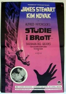 Vertigo - Swedish Movie Poster (xs thumbnail)