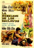 Rivolta degli schiavi, La - Spanish Movie Poster (xs thumbnail)