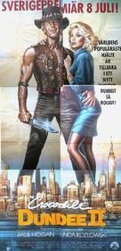 Crocodile Dundee II - Swedish Movie Poster (xs thumbnail)