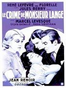 Crime de Monsieur Lange, Le - French Movie Poster (xs thumbnail)