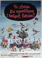 What Did You Do in the War, Daddy? - Swedish Movie Poster (xs thumbnail)