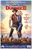 Crocodile Dundee II - Spanish Movie Poster (xs thumbnail)