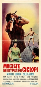 Maciste nella terra dei ciclopi - Italian Movie Poster (xs thumbnail)