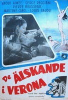 Amants de Vèrone, Les - Swedish Movie Poster (xs thumbnail)