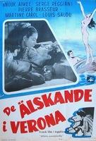 Amants de Vèrone, Les - Swedish Movie Poster (xs thumbnail)
