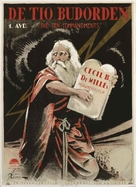 The Ten Commandments - Swedish Movie Poster (xs thumbnail)