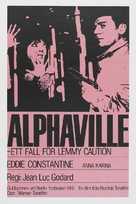 Alphaville, une étrange aventure de Lemmy Caution - Swedish Movie Poster (xs thumbnail)