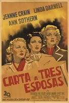 A Letter to Three Wives - Argentinian Movie Poster (xs thumbnail)