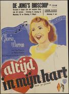 Always in My Heart - Dutch Movie Poster (xs thumbnail)