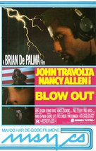 Blow Out - Norwegian VHS cover (xs thumbnail)