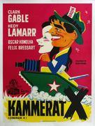 Comrade X - Danish Movie Poster (xs thumbnail)