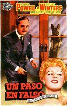 Take One False Step - Spanish Movie Poster (xs thumbnail)