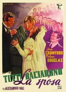 They All Kissed the Bride - Italian Movie Poster (xs thumbnail)