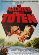 The Naked and the Dead - German Movie Poster (xs thumbnail)