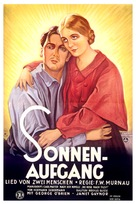 Sunrise: A Song of Two Humans - German Movie Poster (xs thumbnail)