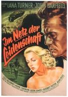 The Postman Always Rings Twice - German Movie Poster (xs thumbnail)