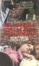 Una farfalla con le ali insanguinate - Spanish VHS movie cover (xs thumbnail)