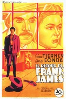 The Return of Frank James - French Movie Poster (xs thumbnail)
