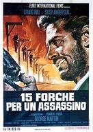 Quindici forche per un assassino - Italian Movie Poster (xs thumbnail)