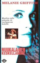 A Stranger Among Us - Finnish VHS movie cover (xs thumbnail)