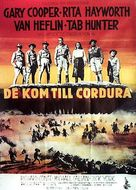 They Came to Cordura - Swedish Movie Poster (xs thumbnail)
