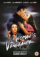 A Woman's Vengeance - British DVD movie cover (xs thumbnail)