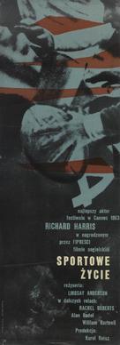 This Sporting Life - Polish Movie Poster (xs thumbnail)