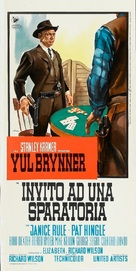 Invitation to a Gunfighter - Italian Movie Poster (xs thumbnail)