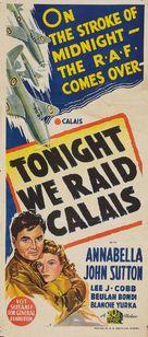 Tonight We Raid Calais - Australian Movie Poster (xs thumbnail)